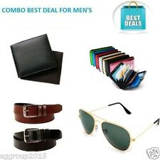 Diwali Combo's Offer Wallet-Belt -Sunglasses-Card Holder For Men's By SG Group