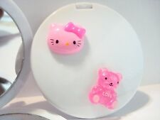 Hello Kitty Light Pink Head and bear Compact Mirror makeup