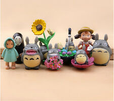9pcs / set studio Ghibli Neighbor Totoro Spirited Away no face Mini figures