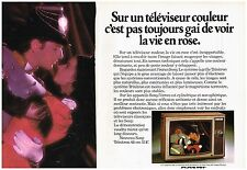 PUBLICITE  1975   SONY  téléviseur ( 2 pages) la vie en rose