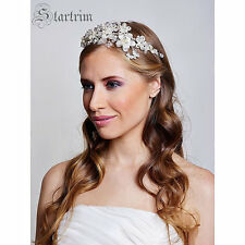 Bridal vintage swarovski crystal & pearl jewel wedding headpiece/tiara