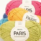 DROPS PARIS 100%BRUSHED EGYPTIAN COTTON ARAN KNITTING YARN 50G