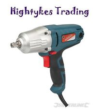 "400w ELECTRIC 1/2"" IMPACT WRENCH 230 Volts 593128 silverline torque socket"