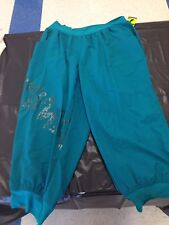 Women's Capri Pants License Zumba Apparel Teal Green 2XL