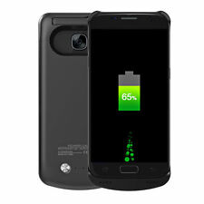 New Power Bank Case For Samsung Galaxy S7 Edge Pack Backup Battery Charger-Black