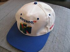 VTG Nintendo 64 Kellogg's Snap Back White Embroidered Cap Hat Super Mario & RARE