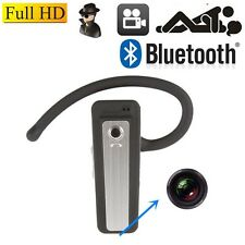 12MP Mini DVR HD H.264 Bluetooth Earphone Camera Pinhole Mini DV Video Recorder