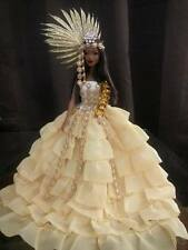Oshun,barbie doll ooak, Goddess love and prosperity,Repainted,By Yali