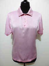 POLO RALPH LAUREN Maglietta Donna Seta Woman Silk Pole T-Shirt Sz.S - 42