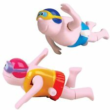 Set of 2 Clockwork Wind-up Swimming Bather Toys - Fun Bath Time Childrens Toys