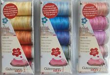 3 GUTERMANN MACHINE EMBROIDERY COTTON THREAD SETS/PACKS  - HIGH QUALITY THREAD