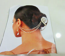 Indian Bollywood Traditional Bridal Pearls Hair Accessories Head & Hair Jewelry