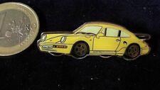 Porsche Pin Badge Anstecker Turbo Carrera 911 gelb