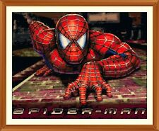Spiderman 9 cross stitch chart 9.5 x 12.0 pollici
