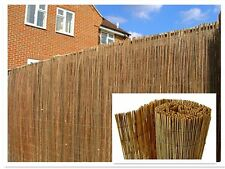 Natural Peeled Reed Screening Roll Garden Fencing Panel 4m (1mx4m)