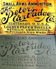 A3 Vintage The Peters Cartridge Co Crate Box Airbrush Stencil Army Ammunition