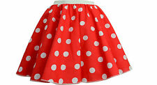 "CHILDRENS 12"" PINK POLKA DOT ROCK N ROLL 50s SKIRT & SCARF FANCY DRESS COSTUME"