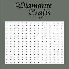 240 x 1mm Clear Diamante Self Adhesive Rhinestone Craft Embellishment Gems