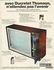 Publicité Advertising 1967  DUCRETET THOMSON téléviseur magivision