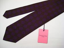 Seaward & Stearn London 100% Silk Neck Tie - Syd Jerome - Brown/Purple