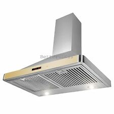 """30"""" Stainless Steel Wall Mount Range Hood Touch Screen Display Light"""