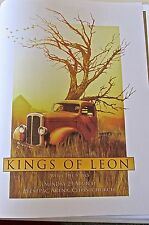 """""""KINGS OF LEON"""" MINI  CONCERT POSTER  FOR NEW ZEALAND 2009 LIVE PERFORMANCE"""