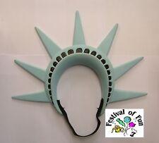 Statue of Liberty Headpiece~Crown Headband Head Fancy Dress American Party