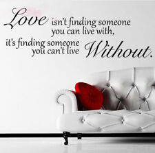 Love Without Quote Sticker Mural Wall Sticker Decal Home Deco GFY