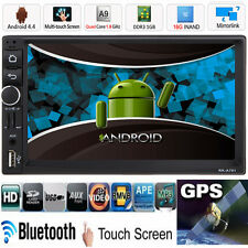"7"" Double 2din CAR MP3 MP5 Player Quad Core Android 4.4 Bluetooth GPS Nav Radio"