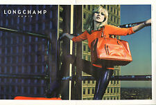 Publicité 2008 (double page) LONGCHAMP sac à main collection mode Kate Moss