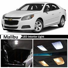 White Interior LED Lights Package Kit for 2013-2015 Chevy Malibu + TOOL