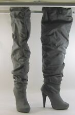 """Michael Antonio Gray 5""""high heel over the knee sexy boot  size 5.5 free shipping"""