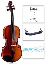 D'Luca 3/4 Size Violin W/Case Music Stand, String Set, & Shoulder Rest. DL-250