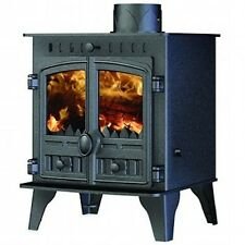 HUNTER Herald 4 Double Door FLAT TOP STUFA Multi Combustibile NUOVO A LEGNA FUOCO