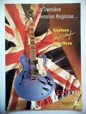 PUBLICITE-ADVERTISING :  Guitare EPIPHONE SUPERNOVA  03/2001 Noel Gallagher