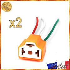 2x H4 Douille En Céramique Résistant Chaleur Douille Ampoule Adaptateur