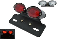 Custom Project Motorcycle Motorbike BLACK LED Rear Stop Tail Light with Bracket