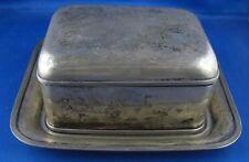 grosse Dose Butterdose mit Tablet Holland Niederlande 833er Silber Antik