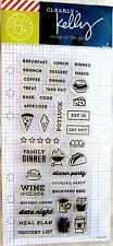 Clearly Kelly Food Planner Hero Arts Clear Acrylic Stamp Set CL914 NEW!