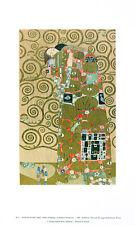 Gustav Klimt Erfüllung Poster Kunstdruck Bild 41x25cm - Kostenloser Versand
