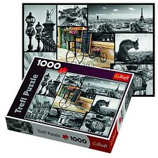 Trefl 1000 Piece Adult Large Paris Collage Eiffel Tower Floor Jigsaw Puzzle NEW