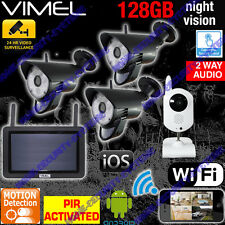 Alarm Home Security Cameras System DIY IP Surveillance WIFI Farm Remote View