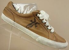 Frye Kira Low Top Brown Grain Leather Lace Up Fashion Sneakers Shoes Womens 9 M