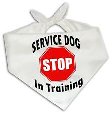 Stop Service Dog In Training - Dog Bandana One Size Fits Most Animal Medical