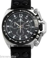 ADEE KAYE MEN'S TRIGGER AK6537-SVR CHRONOGRAPH DATE WATCH. BRAND NEW