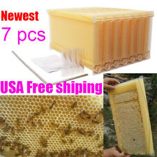 7PCS 2-generation Auto Raw Flow Honey Hive Beehive Beekeeping Frames Harvesting
