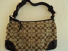 Coach Canvas Leather Sig Brown British Tan ShoulderBag Purse Handbag G0793 11431