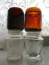 4x VINTAGE OLD SMALL BOOTS CHEMIST MEDICINE APOTHECARY JARS BOTTLES c1920s