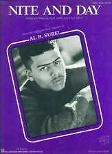"AL BE SURE "" NITE AND DAY "" PIANO-VOCAL-CHORDS SHEET MUSIC PIECE COLLECTORS ITEM"