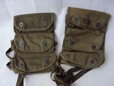 Original WWII US Army Military 3 Pocket Grenade Pouch Carrier Webbing